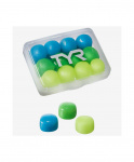 Беруши TYR Kids' Soft Silicone Ear Plugs, LEPY12PK/970, мультиколор