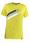 Футболка LA SPORTIVA Stripe Logo T-Shirt M, Yellow (S)