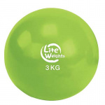 Медбол Lite Weights 3кг 1703LW, салатовый