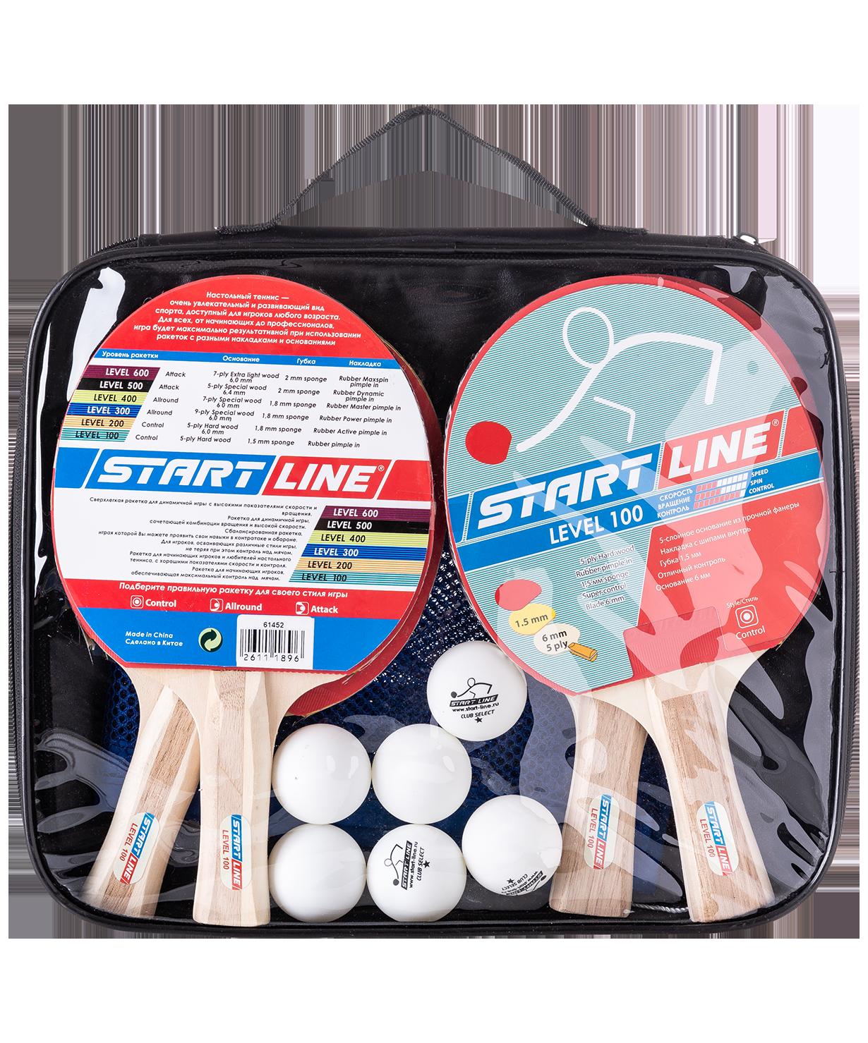 Набор для настольного тенниса Start Line Level 100 ecabc08f96a5a
